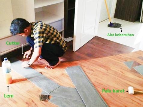 Cara pasang lantai vinyl dan perawatannya